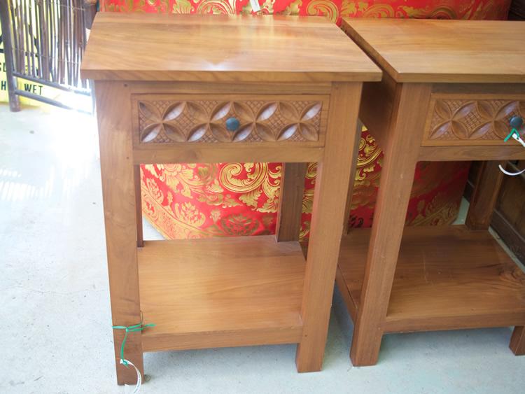 Bedside Table Teak - Java <br> $475<br> $850 pair