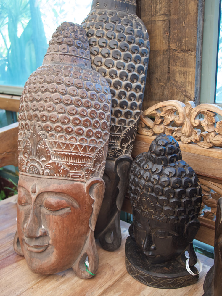 Buddha Masks Wood Bali From $80 to $200