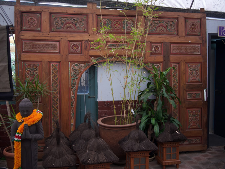 Carved Teak Entrance way - Java $3,600