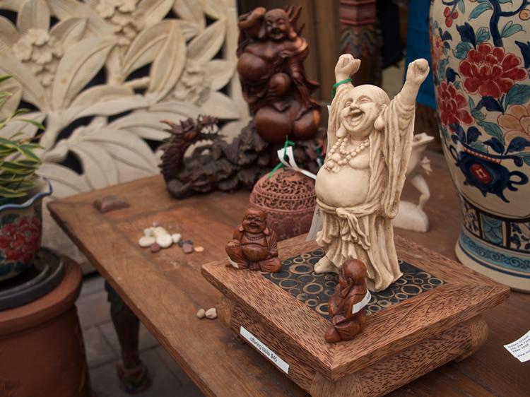 Happy Hotie Buddha Resin Bali $45