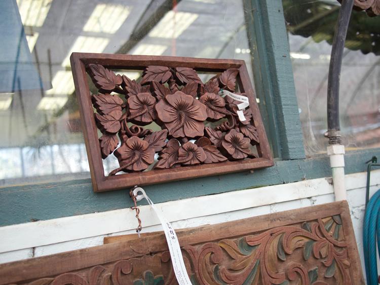 Hibiscus Wall Decor Wood Bali $110