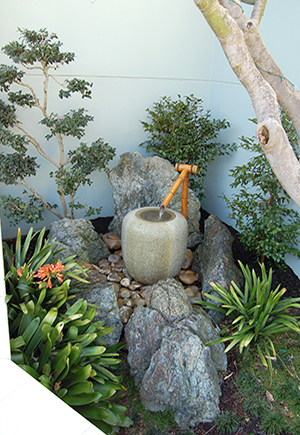 Natsume & Bamboo spout - Private Garden by Imperial Gardens Landscape