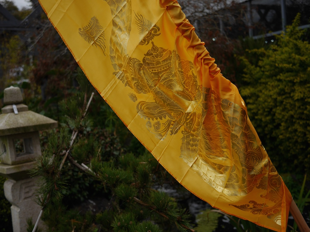 Flag Gold Embossed Various Colours Bali $20