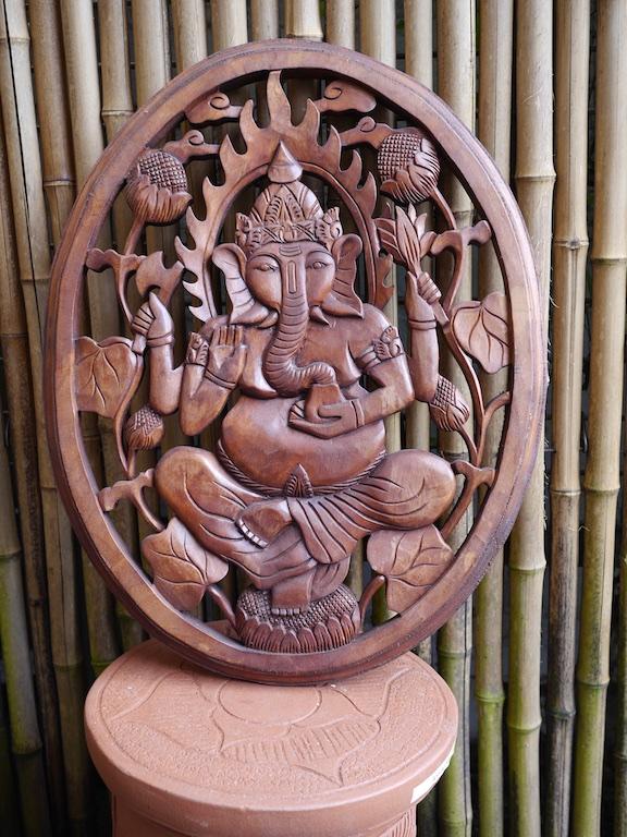 Ganesha Wall Plaque Bali $160