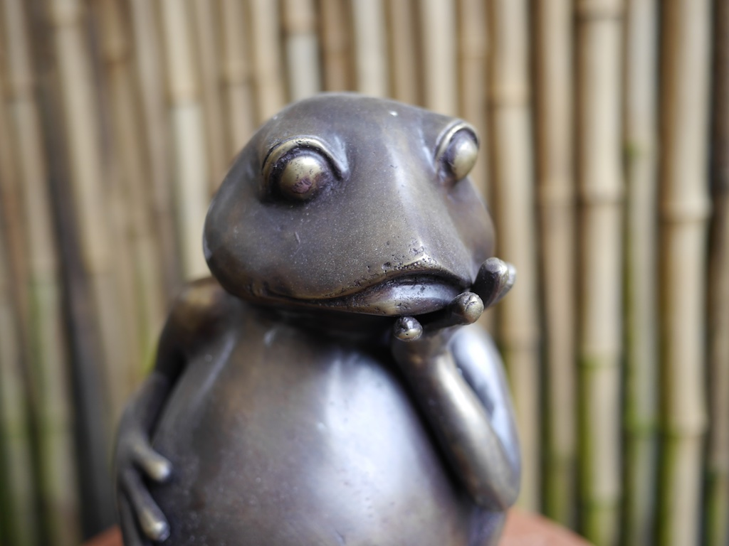 Frog Thinking Detail Brass Bali $225