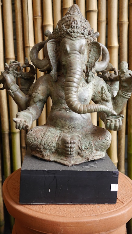 Ganesah Sitting Bronze Java $650