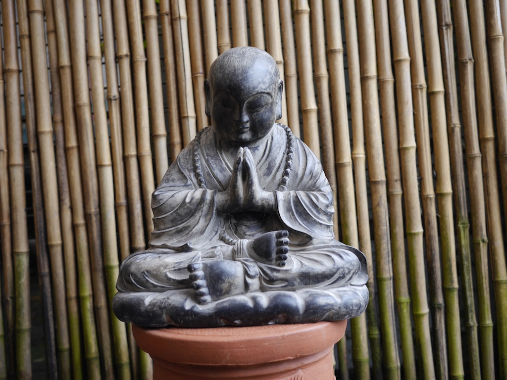 Monk Meditating Resin Bali