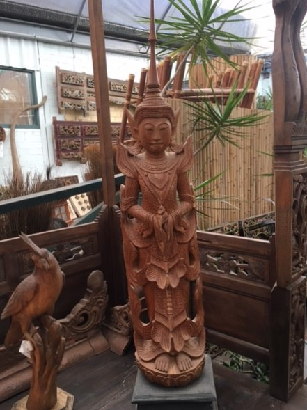 Cambodian Buddha Teak Traditional style $950