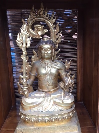 Manjusri Bodhistatva The embodiment of great wisdom. Bronze $1,450