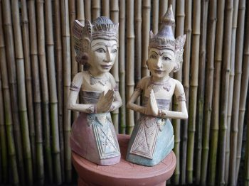 Welcome Statues Wood Bali $170 each or $ 300 the pair