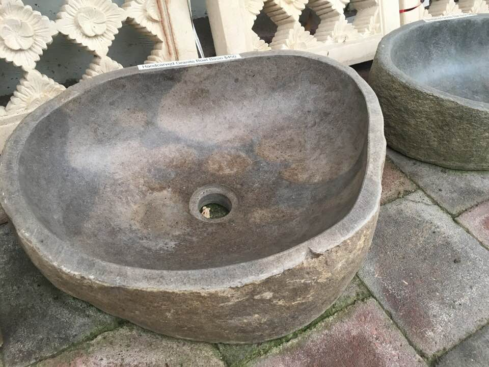 Handcarved Granite Bowl Basin $450