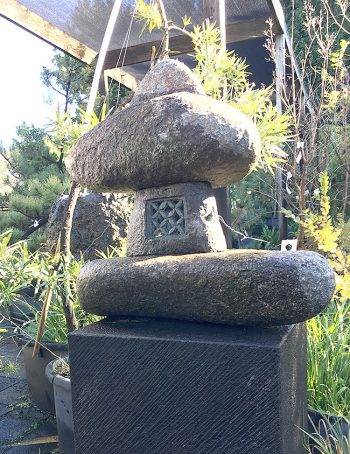 Natural Stone Lantern <br>w55cm $655