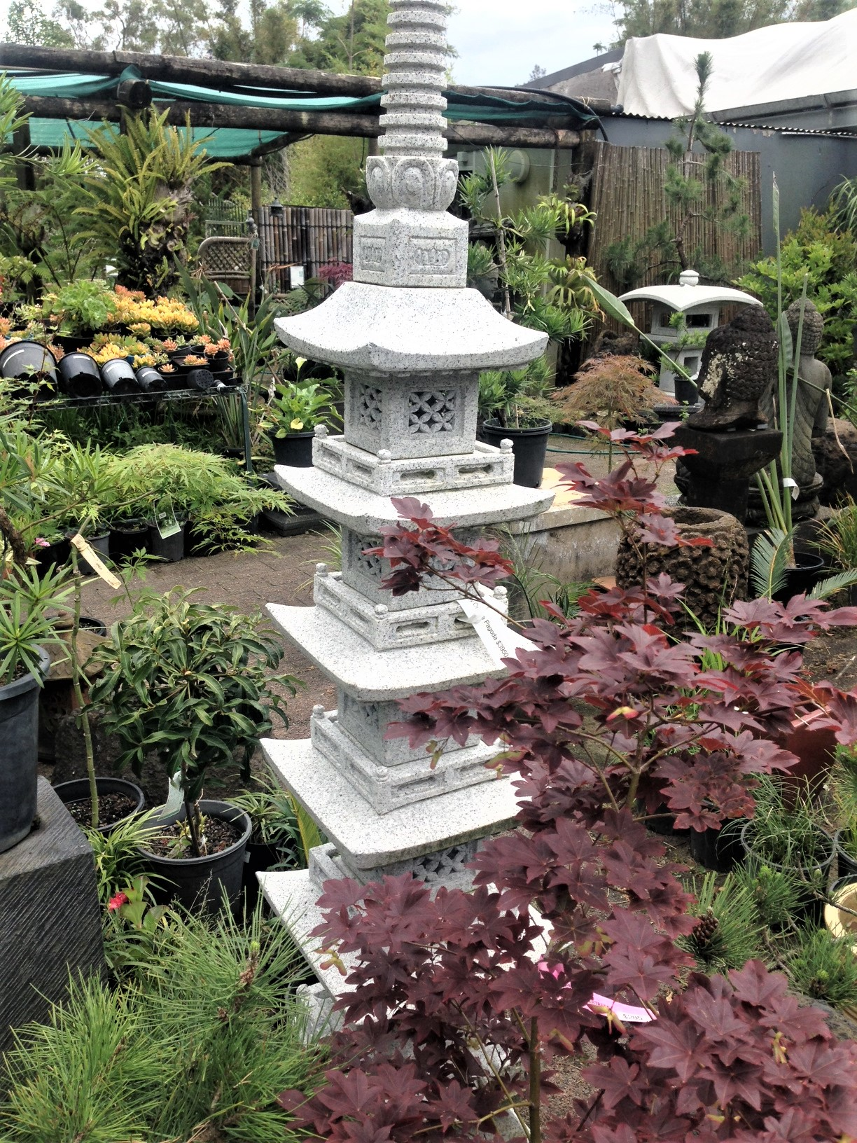 5 Storey Ornamental Pagoda <br>h183cm $3950 <br> OUT OF STOCK, CAN BE ORDERED
