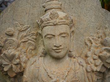 Maitreya Buddha Sandstone Detail Bali $2,500