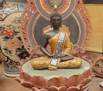 Small wooden Thai Buddha
