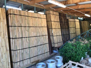 Bamboo Screens <br> H 18.m x W 1.0 - H 2.4m x W 2.0m <br> Whole and half split <br> $120-$280