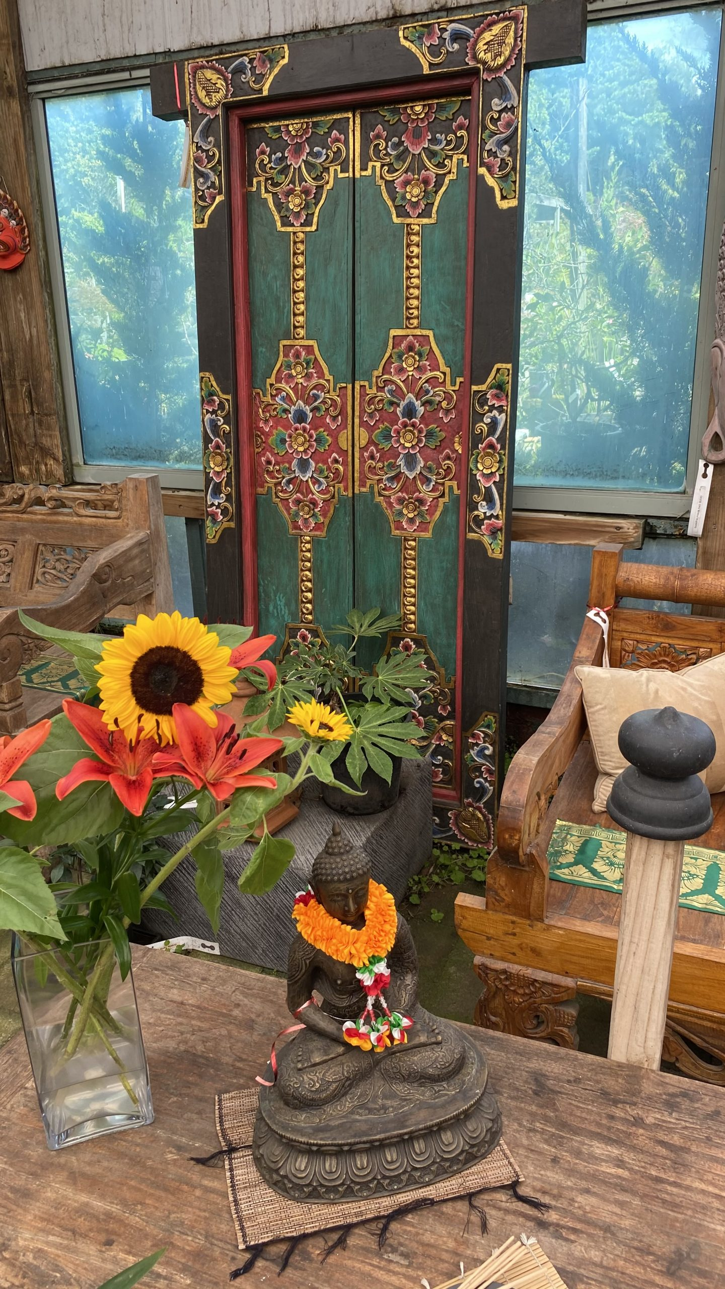 Hand Carved and Painted Doors $1,150